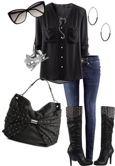 """""""these boots were made for walking"""" by jesschilds on Polyvore"""
