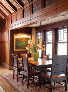Arts and crafts style dining room Arts and Crafts Period