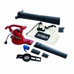Variable-Speed Electric Leaf Blower/Vacuum/Shredder/Mulcher w/Vacuum Tubes & Bag
