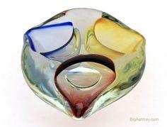 Hand Blown Italian Glass Alien Ashtray
