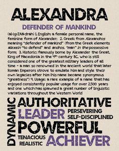 ALEXANDRA Personalized Name Print / Typography by OhBabyNames