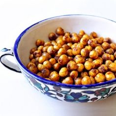 Chick Peas roasted with Morrocan spices.....addictive and better than popcorn