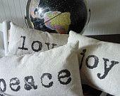 Holiday Pillow Merry Christmas Throw Pillow.  via Etsy.