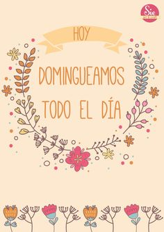 Sie - Art & Craft: Buen domingo ♥
