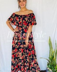 Dn no 1144 Imported crepe floral offshoulder dress (can wear off/onshoulder both ways) Size: 36 The post Arhams Presents appeared first on Arhams.