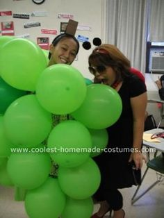 for my grapes costume I wore a green skirt and a crochet sweater. Grapes Costume, Fruit Costumes, Homemade Costumes, The Balloon, Balloons, Website, Globes, Balloon, Hot Air Balloons