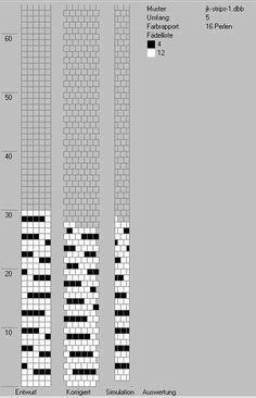 simple tubular crochet beaded color diagram.