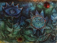 Paul Klee – Kwiaty w nocy – reprodukcja