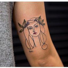 picasso tattoo by Georgia Grey at bangbangnyc