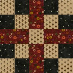 Quilt Block Patterns: Five Patch Chain: Meet the Warm and Cozy Five Patch Chain Quilt Block Pattern