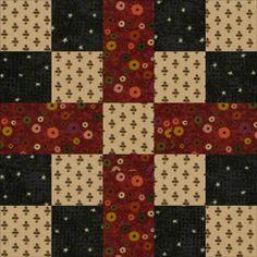 Quilt Block Patterns: Five Patch Chain: Meet the Warm and Cozy Five Patch Chain Quilt Block Pattern