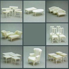 Miniature furniture for set designs