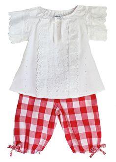 Lindsey Berns #kids Picnic Pantaloons & Swiss Eyelet Peasant Blouse