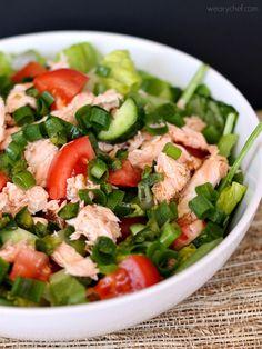 Thai Salmon Salad - An easy and healthy dinner!