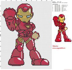 Iron Man cross stitch pattern