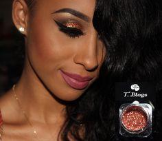 Tutorial – maquiagem com batom Bela e glitter Coralina