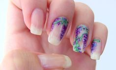 Wisteria inspired nails