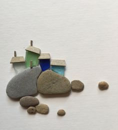 """A personal favorite from my Etsy shop <a href=""""https://www.etsy.com/ca/listing/467110349/8-by-15-pebble-and-sea-glass-art-by"""" rel=""""nofollow"""" target=""""_blank"""">www.etsy.com/...</a>"""