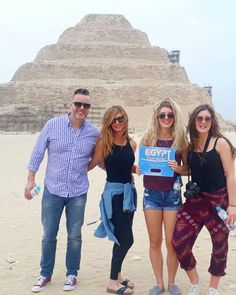 """What a lovely picture from our dearest customers now that commemorates an unforgettable life experience in the ancient Egyptian site """" Saqqara """". We are here in """"The land of Pharaohs"""" to witness the recherche Egyptian Civilization. Places In Egypt, Modern Egypt, Visit Egypt, Egypt Travel, Shore Excursions, Giza, Luxor, Travel Agency, Day Tours"""