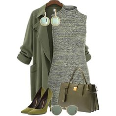 Color Zone 14: Green by debpat on Polyvore featuring Topshop, Stuart Weitzman, Miu Miu, Monet and Ray-Ban