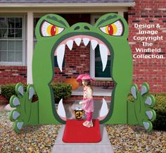 HALLOWEEN monster house ENTRY | Monster Mouth Entry Wood Project Pattern