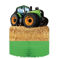 TRACTOR TIME CENTERPIECE Birthday Party Supplies Farm Tableware Décor