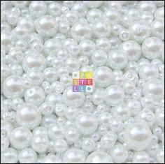 (0032) Perly sklenené - 50 g (cca 120 ks)