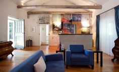 Allee Bleue Estate, KENDALL COTTAGE. Interior design and Art by Emil & Gundel Sogor