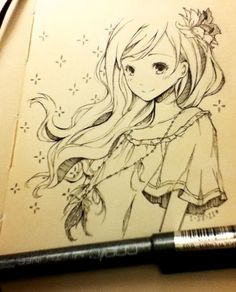 I'm stuck in an art block tonight. And when I don't know what to draw, I draw girls with long flowy hair(°˛° )  (Source: myrollingstar)