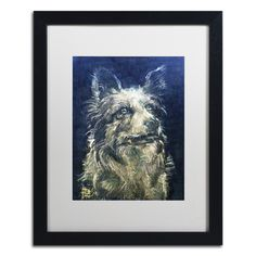 'Blue Merle Moonstone' by Lowell S.V. Devin Giclée Framed Painting Print