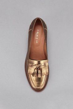 Tendance Chaussures 2017  Mocassins cuir bronze Jonak sur MonShowroom.com