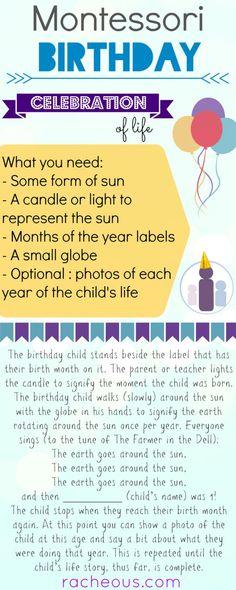 Montessori Birthday Celebration of Life