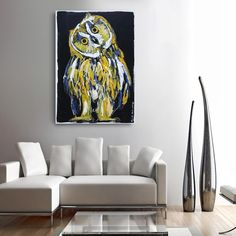 He was an owl who was wiser than all of us (Original Painting) Your Paintings, Original Paintings, Owl Who, Information Art, Get Gift Cards, Enamel Paint, Habitats, A Team, Vibrant Colors
