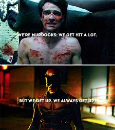Netflix's Daredevil. If you haven't seen it..WATCH IT. I literally just marathoned it for 13 hours straight. So worth it. New obsession! Go see!