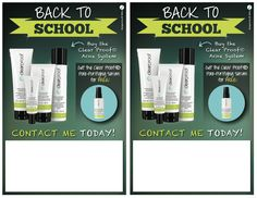 It's time to market to the teens! You don't want your adolescent clients going back to school with out clear skin! QT Office has created a Mary Kay® Back to