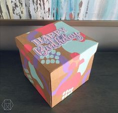 Decor Crafts, Diy And Crafts, Diy Paper, Paper Crafts, Box Patterns, Party In A Box, Diy Canvas Art, Craft Activities, Diy Gifts