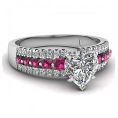 Women's Amazing Engagement Ring 925 Sterling Silver With CZ Inlaid - USD $119.95