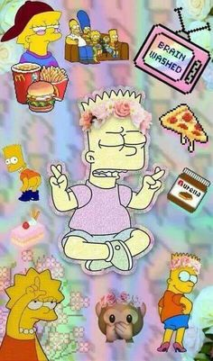 Imagem de background and the simpsons