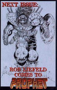 Prophet by Rob Liefeld Savage Dragon, Rob Liefeld, Frank Miller, Old Comics, Anatomy Drawing, Image Comics, Comic Art, Original Artwork, Digital Art