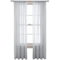 jcpenney | MarthaWindow™ Voile Rod-Pocket Sheer Panel