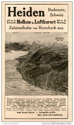 Original-Werbung/Inserat/ Anzeige 1917 - HEIDEN BODENSEE SCHWEIZ - ca. 160 X 90 mm