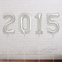 Silver Year Balloon. These silver mylar balloons spell out your graduation party to create a shining focal point for your graduation decor. These year balloons are just so fantastic to set up the festive tone for your graduation party.