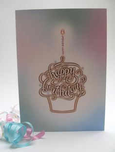 Happy Birthday card Happy Birthday Calligraphy, Happy Birthday Cards, Numbers, Letters, Design, Happy Birthday Greeting Cards, Happy B Day Cards, Design Comics, Fonts