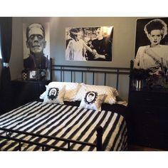 cool Frankenstein bedroom....