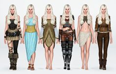 Daenerys Targaryen / Game of Thrones It's been too long since I've shared…anything, so please forgive me! I fully plan on sharing my other Game of Thrones characters, once I lay my feature-tweaking to rest. To kick things off, here is my version of Daenerys as portrayed by the amazing Emilia Clarke. Genetics / Make-up (included except S-Club Eyelash mesh+textures/design) Skin: Simtzu's Gumdrop Non-Default* Hair: Cazy's Northern Star Brows: Simple Life Default Replacement Eyes: Eruwen's N8…