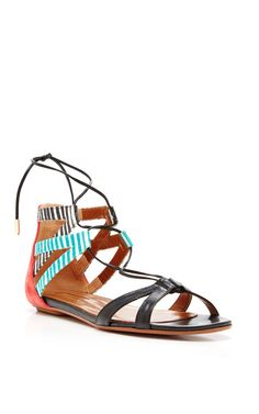 Beverly Hills Printed Leather Sandals by Aquazzura - Moda Operandi