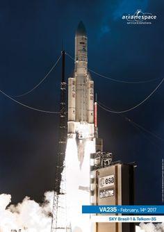 Arianespace gallery Archive - Arianespace  Ariane5 Vol VA 235 /Sky Brasil 1 /Telkom 3S