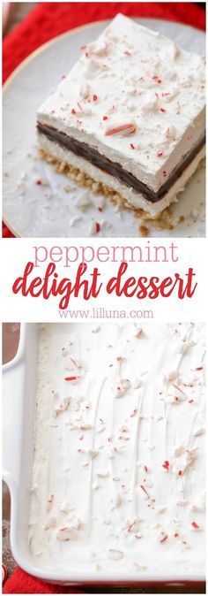 26 Christmas Peppermint Dessert Recipes - Captain Decor Peppermint Chocolate Delight - Nilla wafer crust, cream cheese layer, chocolate pudding layer, whipped cream and candy cane pieces. It's our new favorite Christmas dessert! Christmas Deserts, Holiday Desserts, Holiday Baking, Christmas Treats, Christmas Baking, Holiday Treats, Just Desserts, Delicious Desserts, Christmas Parties