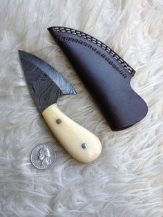 Damascus Steel handmade skinner knife GRACEFUL by DCIllusion