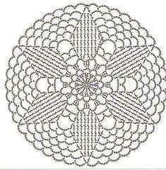 Motivi per uncinetto unit circle crochet pattern Motif Mandala Crochet, Crochet Doily Diagram, Crochet Pillow Pattern, Crochet Circles, Crochet Doily Patterns, Crochet Doilies, Crochet Flowers, Crochet Stars, Crochet Round